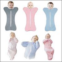Wholesale 2015 Infant Baby organic Cotton Zip Up Swaddle Children Blanket Nursery Bedding Sleepsack swaddling wrap DHL free MOQ SVS0346