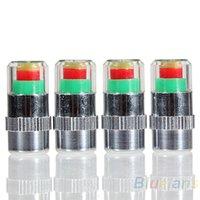 Wholesale 4PCS Car Auto Tire Pressure Monitor Valve Stem Caps Sensor Indicator Eye Alert Diagnostic Tools Kit HN