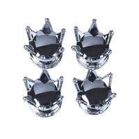 Wholesale New Arrival Car Bicycle Motorcycle Chrome Crown Tyre Tire Wheel Stem Air Valve Cap