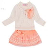 Wholesale 2015 children girls clothes set for spring autumn Baby girls clothing set sets kids coat shirt skirt baby clothes