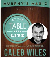 Wholesale At the table lecture by Caleb Wiles The magic teaching video send via email card magic magic tricks