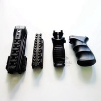 aeg ak - 4 in Handguard Picatinny Rail System Tactical Grip Foldable Hand ForeGrip Set for AK Series AEG