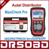 Wholesale 100 Original Specialized Systems Diagnostic Scan tool AUTEL MaxiCheck Pro ABS SRS TPMS Oil Service EPB DPF SAS sensors reset