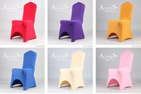 Wholesale 2015 top quality Universal Polyester Spandex Wedding Chair Covers for Banquet Folding Hotel Decoration Decor Quality Hot Sale