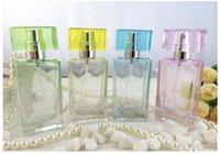 Wholesale Multi Color Glass Empty ml Refillable Perfume Bottle Spray Bottles Cosmetic Bottles Perfume Atomizer ZH1447