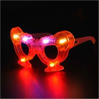 Wholesale 12pcs Novelty Champagne glasses led flashing glasses cup light up toys Electronic kids toy party supplies decoration