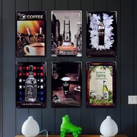 Wholesale Classic Italian Coffee Tin Sign Old Wall ART Decor Painting Metal Craft Cafe Decoration Mix Order cm