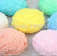 Wholesale G ball balls pack baby wool yarn coral fleece yarn for crocheting g pack