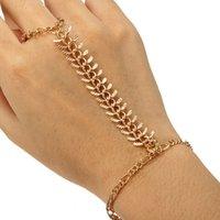 Charm Bracelets slave bracelets - 2016 HOT Sale Gold Rib Bracelet Bangle Slave Chain Link Hand Harness Bracelets Fashion Jewelry