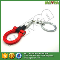 aluminum race trailers - Racing Billet Aluminum Tow Hook Front Rear Keychain Keyrings For BMW European Car Trailer colors