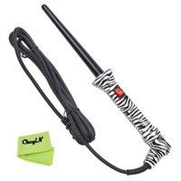 Cheveux curleur Rouler + résistant à la chaleur Gant HS48Q-V52 Mode Cheveux ondulés Curl 100-240V électrique Céramique Cone cheveux Curling Wand