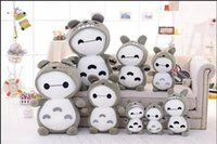 Wholesale Hot Sale creative Baymax Robot totoro Plush Toys Dolls CM CM Movies TV Toys Hobbies Child Baby Toys Gifts cute free ship
