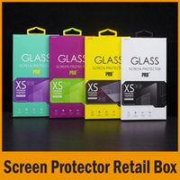 packing film - 4 Colors Tempered Glass Screen Protector Retail Package Box Film Packing Box For Cell Phone Accessiores