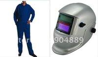 Wholesale Sent by DHL Solar auto darkening welder helmet Evan style fire retardant welding cloth