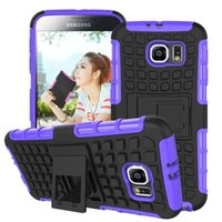 Wholesale STOCK Stand Case Impact Rugged Heavy Duty TPU pc Hybrid Shock Proof Cover Cases For Samsung Galaxy s6 Galaxy s6 edge For HTC ONE M9 pc
