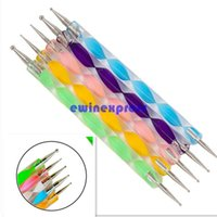 Wholesale Hot sale X NAIL ART WAY DOTTING PENS CRYSTAL PAINT MARBLEIZING TOOL SET KIT DESIGN