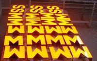 Wholesale LED face lit signs LED lettering signs channel letters business signs D letters logo signage