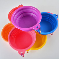 Wholesale pet dog cat pig animal Bowl Puppy Drinking Collapsible Easy Take Outside Feeding Water Feeder Travel protable Dish folding bowls