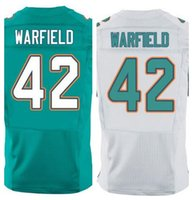 aqua factory - Factory Outlet New Paul Warfield retired Men Elite Football stitched Warfield Jersey size M XL Mix Order Aqua Green white jer
