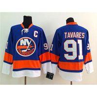 Wholesale John Tavares Blue Hockey Jerseys Islanders Hockey Wears Top Selling Team New Jersey Winter Ice Hockey Jerseys Sports Team Uniforms