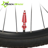 Wholesale ROCKBROS Grenade Rocket CrossBones Bike Motorycycle Wheel Tire Tyre Dust Caps Valve Cover Bicycle Accessories Colors