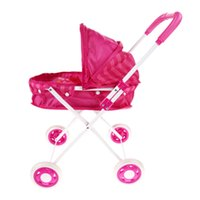 baby doll pram - New Brand Baby toys Stroller Pushchair Pram Foldable Pink Cute Iron Girls Toy Doll Pram Children girls gifts