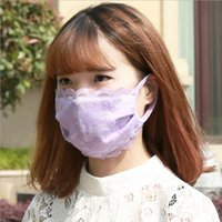 Wholesale Cute Anime Cotton lace Mouth Muffle Face Mask women Girl FACE Mouth Gauze Mask Healthy Dust Masks
