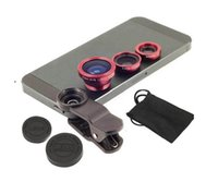 Wholesale Universal Clip in Phone Lens Wide Angle Macro Fish Eye Lens for iPhone6 Samsung Galaxy S5 S4 Note4 Blackberry with Retail Packaging