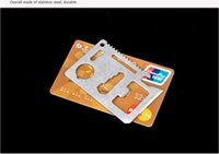 Wholesale Hot Credit Card Survival Pocket Knife Multi Functional Hiking Camping Outdoor Mini tools