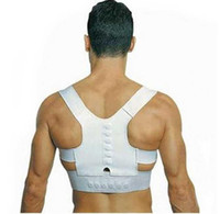 Wholesale Men Women Magnetic Posture Support Corrector Back Belt Band Pain Feel Young Belt Brace Shoulder for Sport Safety Brand New
