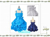 christmas flower pick - Pretty Flowergirl Dress Navy Blue Lovely Bubble Pick up Flower Girl Dress