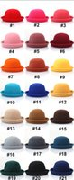 Wholesale Fashion Woolen Classical Cap Vintage Women Men Fedora Dome Hat Unisex hats kids caps Christmas Gift