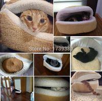 Wholesale Kitty Hamburger Litter Disassemblability Windproof Pet Nest Shell Cat Bed Hiding Burger Bun Pet Cat Bed CM PB0048