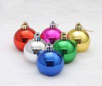 Wholesale Christmas Ball Christmas Decorations Ball Plastic Light Paint Balls Christmas Tree Orname cm cm cm cm Christmas gift