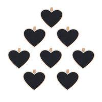 Wholesale Shopping Time Heart Shape Blackboard Wooden Pegs Photo Note Paper Clips