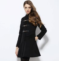 Wholesale 2016 new style Europe and America women long coat coats for women Dust coat NSY111