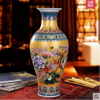 antique porcelain vases - 2016 Chinese mordern ceramic vase Jingdezhen enamel vase antique looking porcelain vase craft table vase