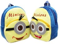 Wholesale 2015 cm Minion Despicable me Backpack Children School Bags Baby Cartoon Character Backpack Pegman Toys School Bags Mochilas MYF0807