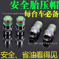 Wholesale 4PCS Car Auto Tire Pressure Monitor Valve Stem Caps Sensor Indicator Eye Alert Diagnostic Tools Kit