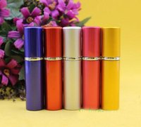 Wholesale 5ML New Style Portable Travel Refillable Perfume Spray Bottles Mini Perfume Atomizer with DHL