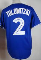 baseball jerseys - 2015 new Blue Jays Troy Tulowitzki Home Blue Stitched JerseyS Outdoor Hockey JerseyS Baseball Wear Cheap Athletic Baseball Jerseys