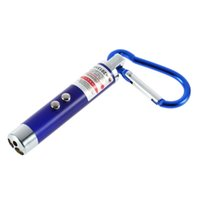 Wholesale car PC LED Lazer in Mini Red Laser Pointer LED Flashlight UV Torch With Keychain Newest