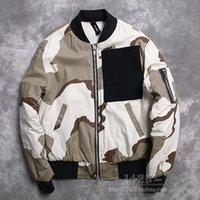 air force camouflage uniforms - Fall new KANYE WEST YEEZUS American high street baseball uniform pilots Kanye ADYN Air Force desert camouflage jacket MA1