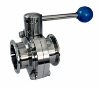 Wholesale Food sanitary stainless steel manual butterfly valves
