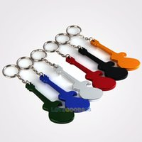 aluminum beer buckets - LS4G Bar Products Pc Guitar Shaped Beer Opener Aluminum Alloy Bottle Opener Keychains