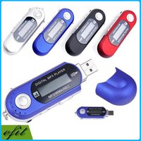 Wholesale MINI USB Digital MP3 Player With TF Card Reader LCD Screen Flash Music Player WMA REC FM Radio AAA battery multiple language
