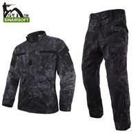 airsoft camo pants - Kryptek Mandrake camouflage military uniform SHIRT PANTS airsoft tactical camo BDU hunting clothes set us army military uniform