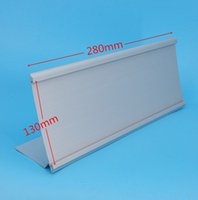 aluminium signs - 130x280mm Aluminium L Shaped Sign Display Paper Title Name Card Table Label Holder Stand Economic Type