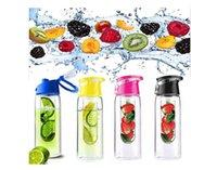 plastic bottle water bottle - New Fruit Infusing Infuser Water Sports Health Lemon Juice Bottle Flip Lid Hot