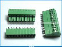 Wholesale 100 Screw Terminal Block Connector mm Pin Way Green Pluggable Type